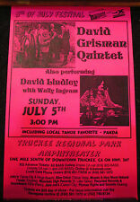 Orig DAVID GRISSMAN QUINTET Promo Poster David Lindely Wally Ingram VINTAGE
