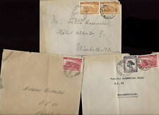 BELGIUM CONGO 1931-43 INTERNAL COVERS x 3