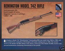 REMINGTON MODEL 742 RIFLE Woodsmaster .308 Gun Atlas Classic Firearms PHOTO CARD