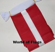 LATVIA BUNTING 9m 30 Polyester Fabric Latvian Party Flags Europe European