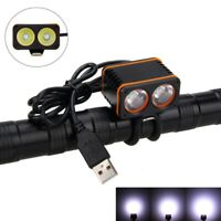 10000LM 2x T6 4.2V LED Bicycle Bike Cycling Headlight Head Front Light 4-Modes