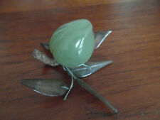 6) - Pêche petit fruit en pierre dure verte  xxe  CHINE ASIE