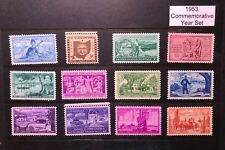 1953 US Commemorative Year Set (Complete) #1017-1028, MNH  FREE SHIPPING