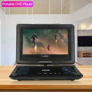 "New Multi Region 13.9"" Portable In Car DVD Player Rechargeable Swivel Screen UK"