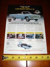 1963 CHEVROLET IMPALA SS 409 FRANKLIN MINT - ORIGINAL 2000 AD