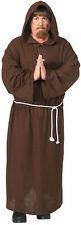 Men's Friar Tuck Costume Brown Monks Robe Shepherd Biblical Adult Size Standard