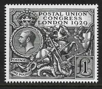 GB 1929 sg438 George V PUC £1 2010 Royal Mail Facsimile Reproduction Mint