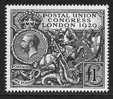 GB 1929 sg438 George V PUC £1 2010 Royal Mail Facsimile Reproduction Mint