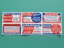 6 WW2 Patriotic Castrol Oil Petrol Cinderella Labels Stamps