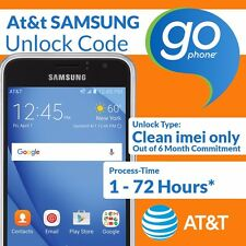AT&T GoPhone Samsung SGH-A107  Network Unlock Code Service Out Of Contract ATT