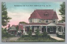 Roy House—Iberville Quebec—Victorian House HANDCOLORED Saint-Jean-sur-Richelieu