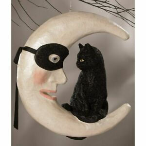 Bethany Lowe Hallow's Eve Cat On Moon TD9050 PREORDER JULY Free Ship