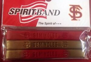 Florida State Seminoles NOLES Baller Bands Wristbands Bracelet 3 Pack New!