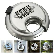 Stainless Steel Disc Lock Security Round Lock 4 Digit Combination Padlock