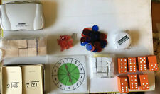 Educational Mixed Lot- Spell Check, Flash Cards, Dominoes, Dice, Blocks, Chips,