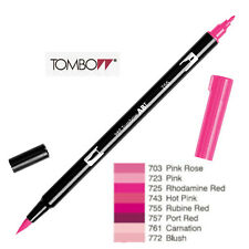 Tombow : Dual Brush Pen  ABT 703 to 772  Red Violet shade