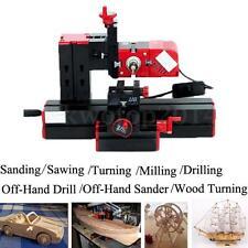 6 In 1 Multi Wood Metal Lathe Motorized Jig-saw Grinder Driller DIY CNC Machine