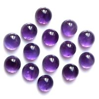 Wholesale Lot of 8mm Round Cabochon African Amethyst Loose Calibrated Gemstone
