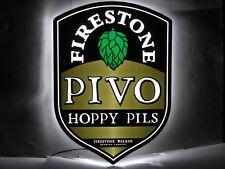 FIRESTONE-WALKER PIVO HOPPY PILS CRAFT BEER LED LIT BAR SIGN Super Nice