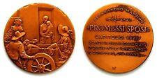 Medaglia Alessandro Manzoni – Promessi Sposi Capitolo XXXIV Bronzo cm 5,5