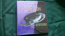 Skybox 1995 Star Trek Voyager Season one series two binder and Card set in Pages