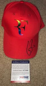ROGER FEDERER SIGNED RED NIKE HAT WIMBLEDON OPEN FRENCH AUSTRALIAN LAVER CUP PSA