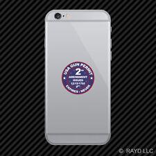 USA Gun Permit 2nd Amendment Cell Phone Sticker Mobile 2a gun rights