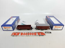 CE827-0,5# 2x Roco H0/DC Güterwagen DB NEM: 66851/Omm 52 + 67703/G10, TOP+OVP
