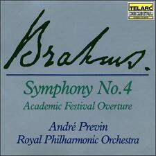Symphony No. 4 Andre Previn Royal Philharmonic Orchestra (CD, 1988 Telarc) NEW