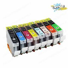 8 Pack CLI8 CLI-8 Ink For Canon Pixma Pro6000 Pro6500 Pro9000 Mark II