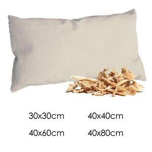 Zirbenkissen Bio-Perkal - Zirbenholzkissen Zirbelkissen Schlafkissen Kopfkissen
