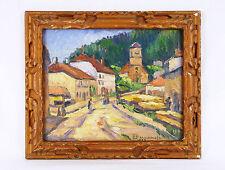 Raymond BERNANOSE (1929) Huile signée et datée 1933 Paysage de montagne