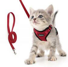 Reflective Cat Harness & Leash Set Soft Mesh Pet Small Dog Kitten Rabbit Vest