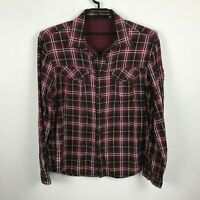 Marithe Francois Girbaud Shirt Size XL Fly Patch Red Black Yellow Plaid Mens