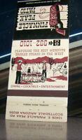 Vintage Matchbook Cover A1 Scottsdale Arizona Pinnacle Peak Patio Cowboy Guns