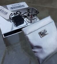 D & G Solid Silver Ring, size T/U