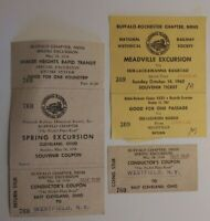 National Railway Historic Society Buffalo Railroad Ticket Conductor's Coupon Lot