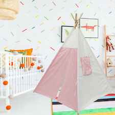Indoor Children Kids Play Tent Teepee Playhouse Toys Castle Cubby Cotton Canvas