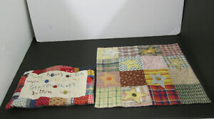 2 SMALL BUTTON / QUILTS LOVERS HANDMADE HOURS OF FUN IN GRANDMOTHERS BUTTON BOX
