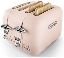 De'Longhi CTO4.PK 4 Slice Argento Flora Toaster - 1800W Pink