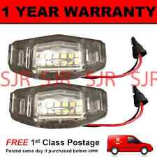 2X FOR VAUXHALL VECTRA B ZAFIRA OMEGA CORSA ASTRA 18 WHITE LED NUMBER PLATE LAMP