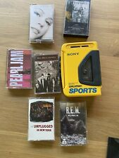 SONY WALKMAN SPORTS AUTO REVERSE  CASSETTE PLAYER VINTAGE (with Cassettes)
