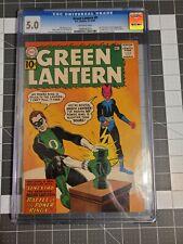 GREEN LANTERN #9 1961 CGC 5.0 Last 10c Issue! First app of the Jordan brothers!