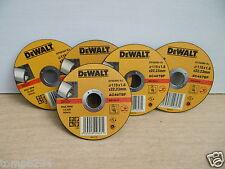 5 X DEWALT DT42260 115MM X 1.6MM  ALUMINIUM CUTTING GRINDER DISCS AC46TBF