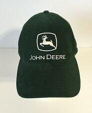 JOHN DEERE ADULT MENS ADJUSTABLE GREEN BASEBALL CAP HAT white logo
