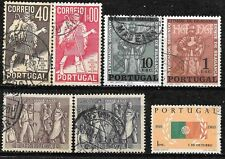 PORTUGAL 1937 1951 1960 1965 Sc#572-3; 737-8; 870; 945-6 COMPLETE USED SETS 0230