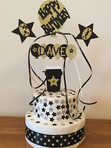 Cake Topper Decoration Beer Glass Personalised Birthday All Ages Names Colours
