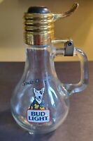 Vintage 1987 Spuds Mackenzie Bud Light Bulb Bottle Stein Mug Collectible Glass