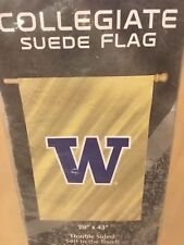 New listing Washington Huskies Ncaa Double-Sided Suede Vertical Banner Flag, New