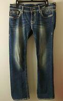 VIGOSS The New York Boot Cut Jeans Thick Stitch Stretch Distressed Women's SZ 30